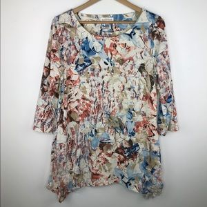 Northern Reflections floral geometric top